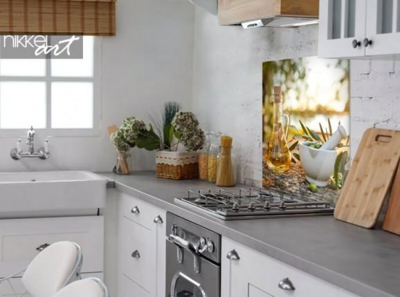 Kuchenrückwand aus Glas Olivenhain