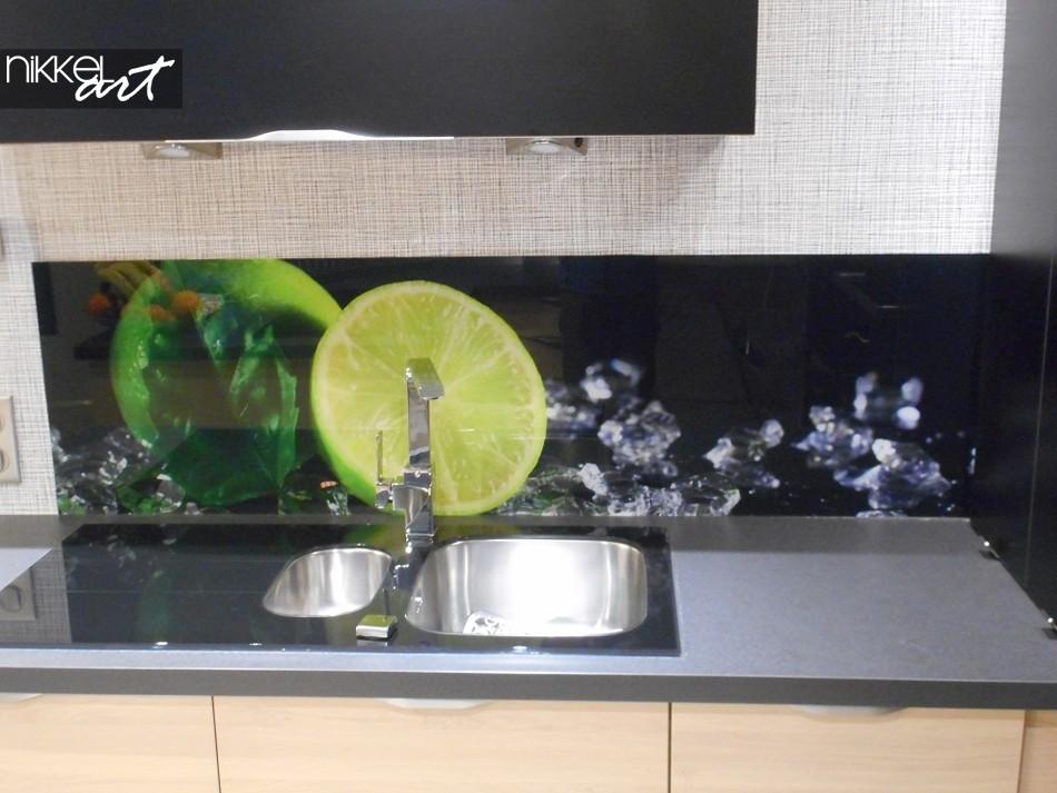 Küchenrückwand aus Glas mit Foto Im Wasser