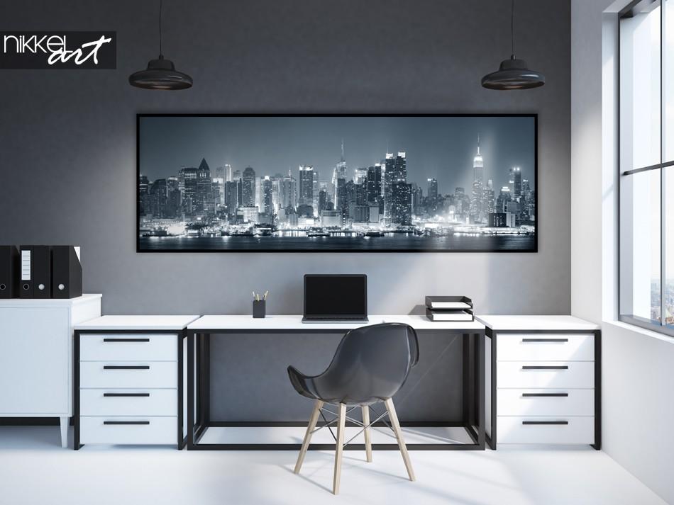 Büro mit Poster Panorama Foto