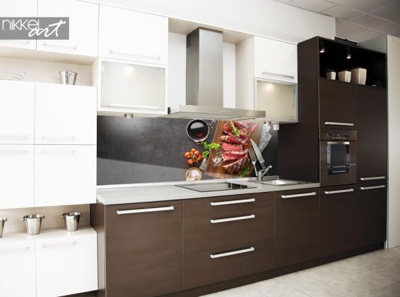Küchenrückwand mit Foto Barbecue