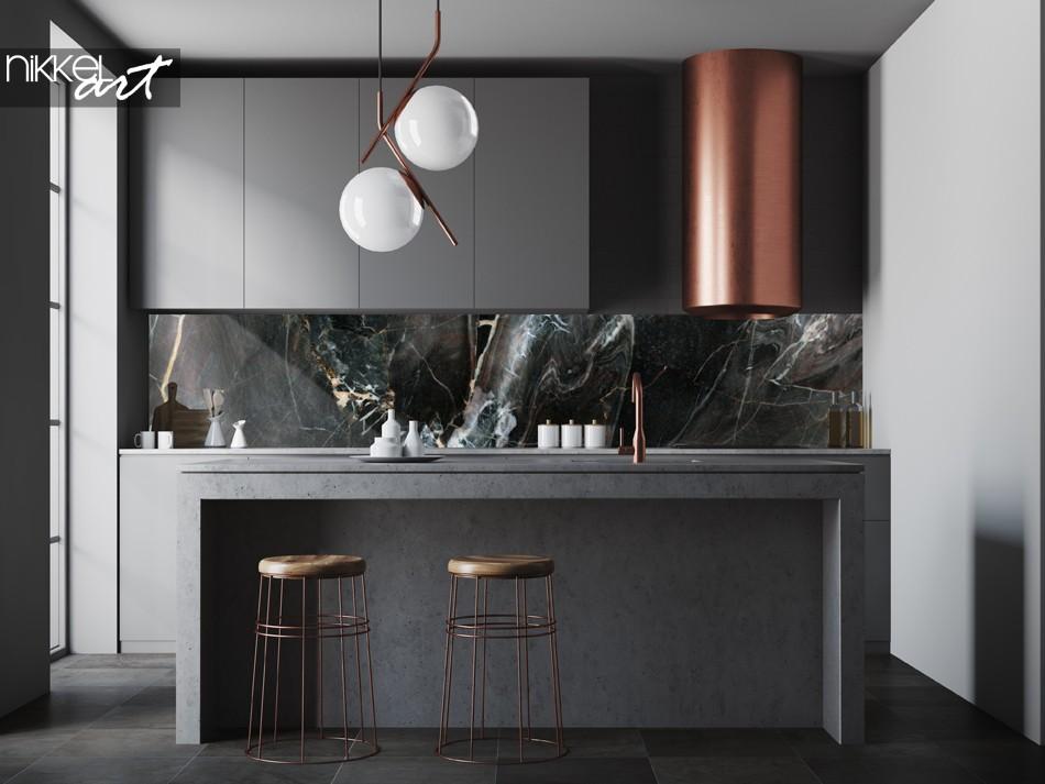 Küchenrückwand mit Foto Marmor Textur