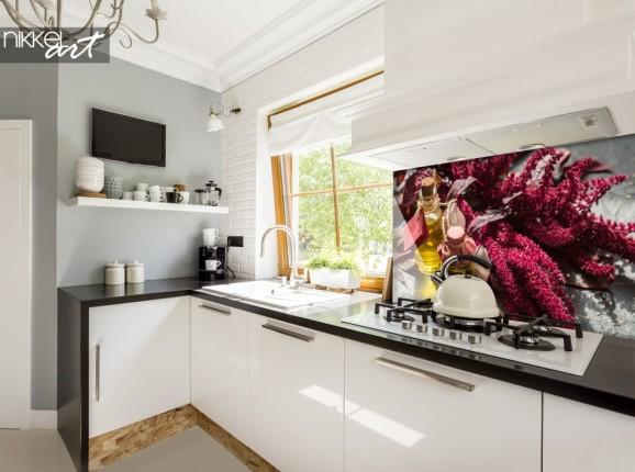 Küchenrückwand aus Glas mit Foto Kräuter