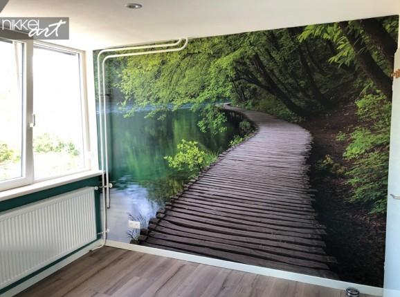 Kundenfoto Fototapete mit Waldweg