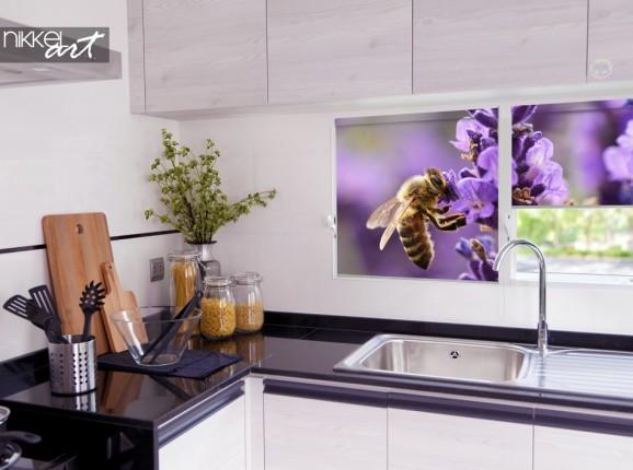 Bunter Foto-Vorhang für die Küche