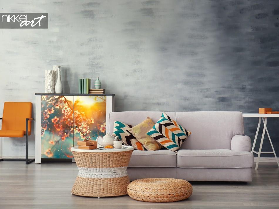 Frühlingshafter Möbelaufkleber für das Kabinett