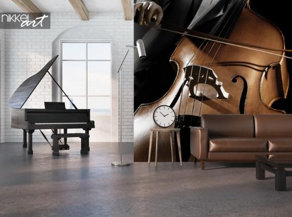 Studio mit Fototapeten Musikinstrument