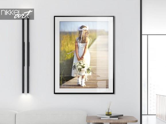Poster im Rahmen mit Kommunionfoto