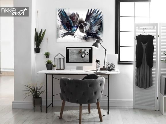 Arbeitszimmer mit Foto auf Alu-dibond Gemälde