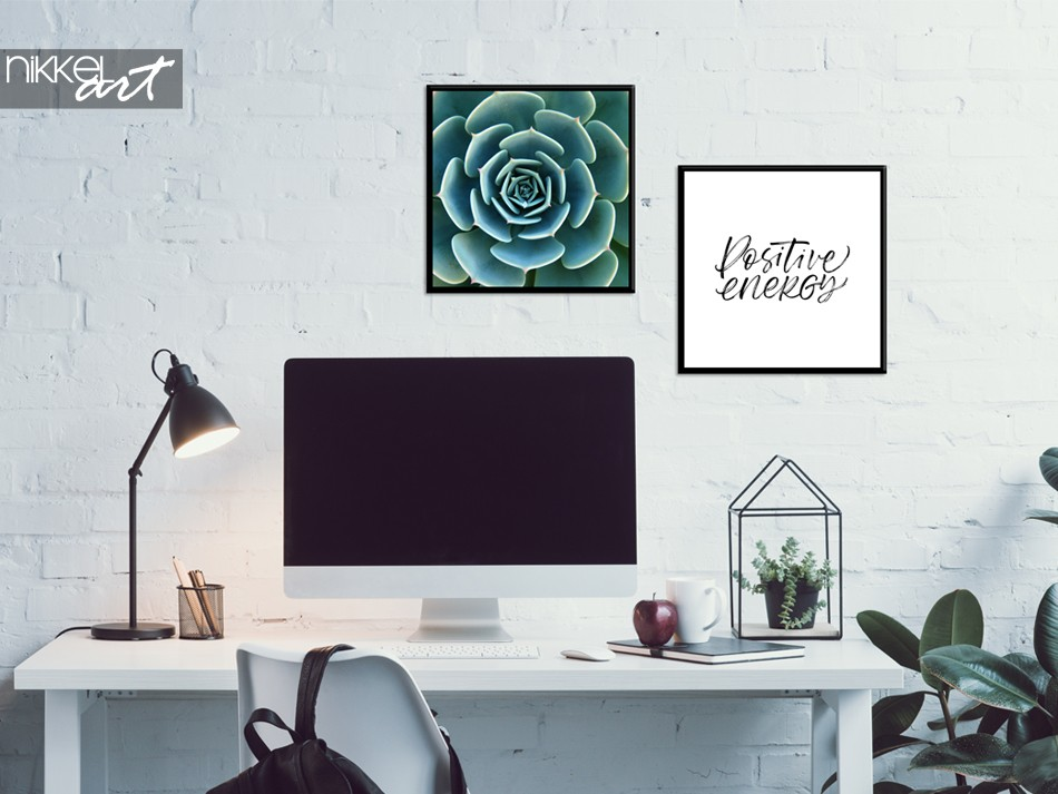 Büro mit Poster Kombination