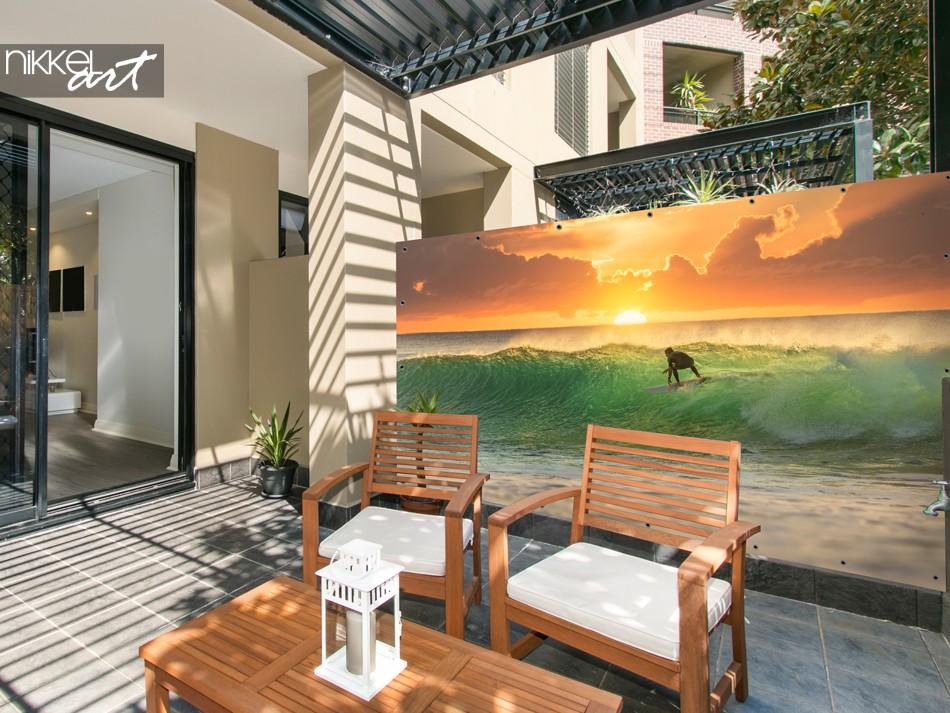 Gartenplakat mit Foto Surfer