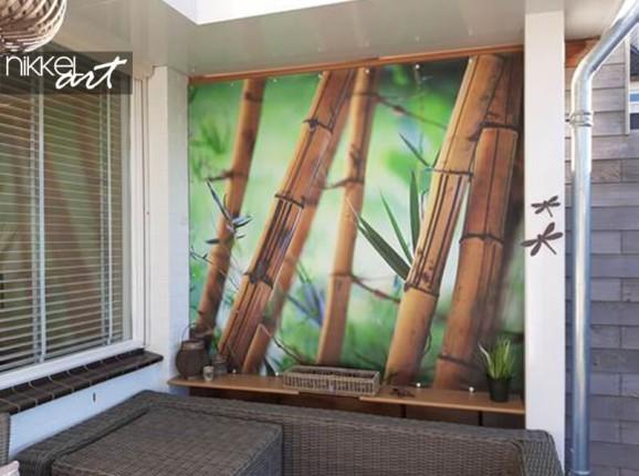 Foto auf Gartenposter von Bambus