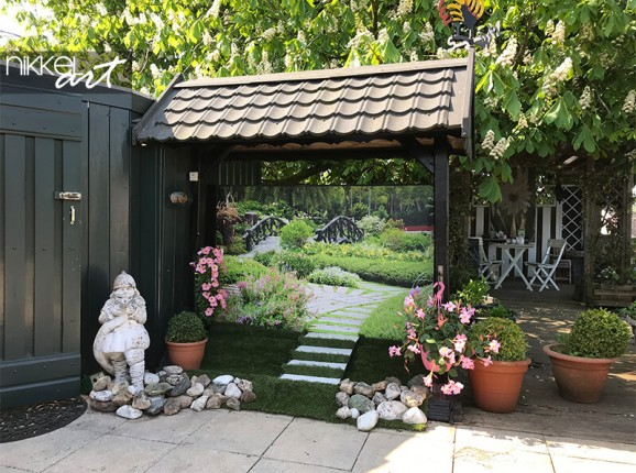 Foto auf Gartenposter von einem Garten