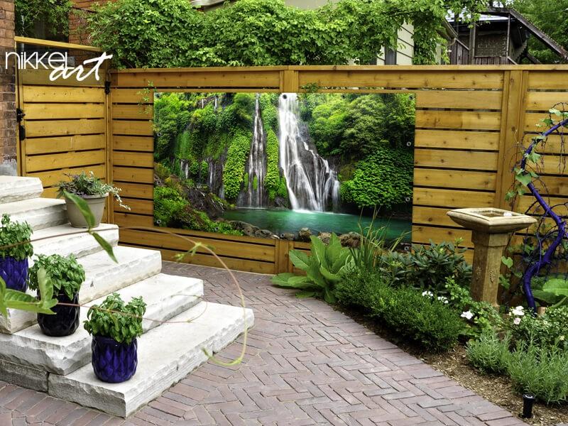 Wasserfall Gartenposter