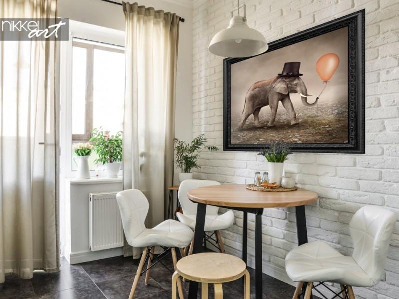 Poster mit Foto Zirkus Elefanten