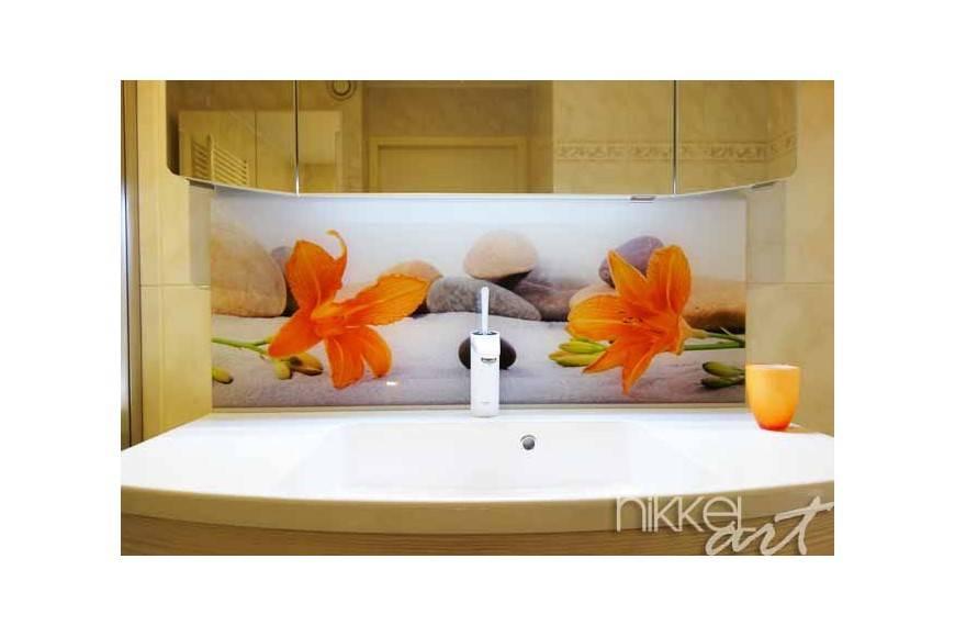 foto op plexiglas als achterwand in de badkamer. Black Bedroom Furniture Sets. Home Design Ideas