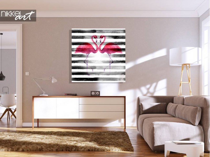 flamingo malerei auf plexiglas. Black Bedroom Furniture Sets. Home Design Ideas