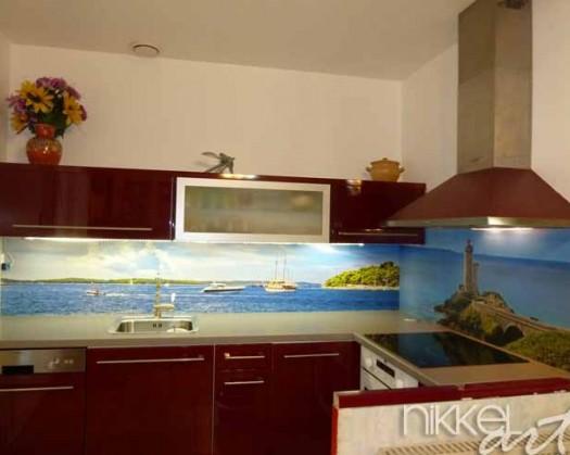 Küchenrückwand foto glas Flamme