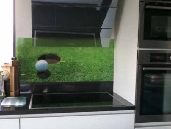 k chenr ckwand glas golf. Black Bedroom Furniture Sets. Home Design Ideas