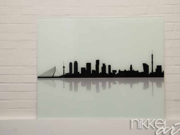 k chenr ckwand aus glas mit foto rotterdam. Black Bedroom Furniture Sets. Home Design Ideas