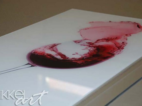 Foto auf Acrylglas red wine splash